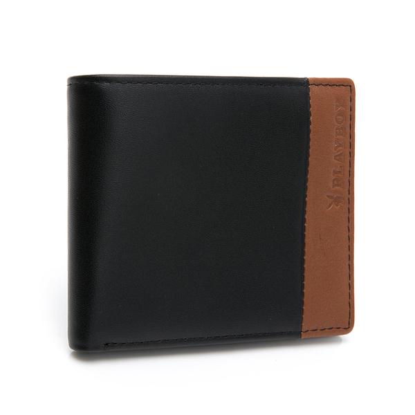 PLAYBOY- 基本短夾 2TONES系列 -黑色