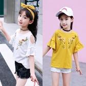 女童上衣 女童T恤短袖夏季兒童裝中大童時髦超洋氣8上衣12歲小女孩 交換禮物