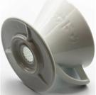金時代書香咖啡 KADOU 咖堂星芒濾杯「極」M1陶瓷濾杯 白色 KADOU-M1-WH