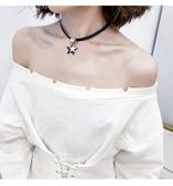 鎖骨女日正韓簡約脖子飾品Choker潮人頸學生森繫項圈頸帶項鍊【快速出貨】