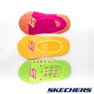 女童運動船型襪18cm~21cm-桃紅x黃x綠