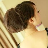 售完即止-假馬尾赫本頭假髮造型新娘髮包苞頭大窩頭丸子頭扣式丸子頭10-5(庫存清出T)