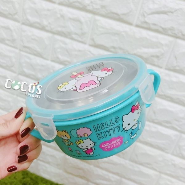 HELLO KITTY KT 304不鏽鋼 隔熱碗 環保碗 兒童碗 保鮮碗 A款 COCOS SN110