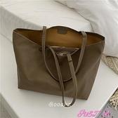 子母包大容量pu軟皮側背子母托特包包購物袋 JUST M