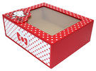 【震撼精品百貨】Hello Kitty 凱蒂貓~HELLO KITTY圓點風收納盒-紅