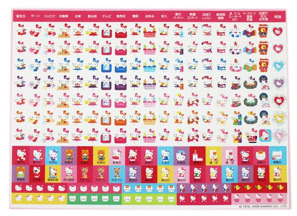 【卡漫城】 Hello Kitty 日誌貼 ㊣版 無包裝 217張 迷你貼紙 行事曆 心情貼 凱蒂貓 三麗鷗 日版