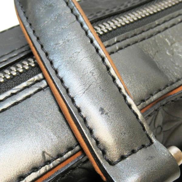 LOUIS VUITTON LV 路易威登 鐵灰色牛皮手提包 Shelton Monogram Mat M55175 BRAND OFF
