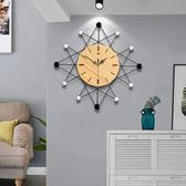 掛鐘北歐創意鐘錶掛鐘客廳個性時尚現代簡約時鐘靜音家用掛錶歐式藝術『獨家』流行館YJT