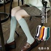 襪子女中筒襪INS潮街頭小腿襪長筒襪女夏薄款黑色過膝長堆堆襪 FX851 【毛菇小象】