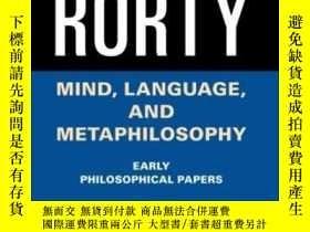 二手書博民逛書店Mind,罕見Language, And MetaphilosophyY464532 Richard Rort