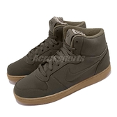 Nike 休閒鞋 Ebernon Mid SE 咖啡 膠底 保暖加絨 男鞋【ACS】 AQ8125-301