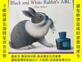 二手書博民逛書店Black罕見and white Rabbit s ABC:黑色的和白兔的abcY212829