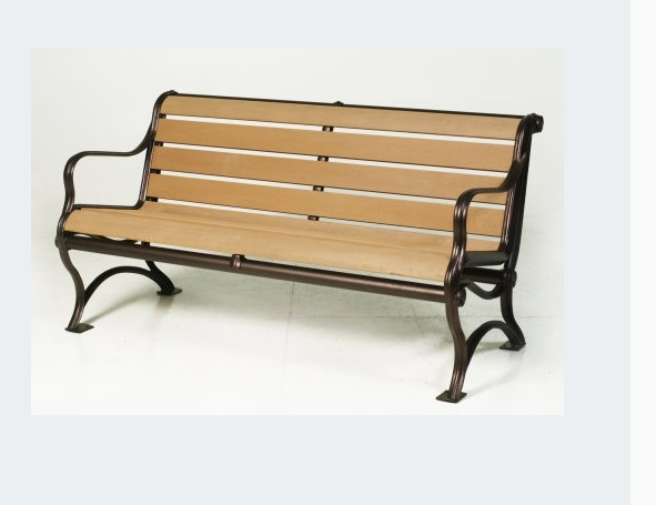 【南洋風休閒傢俱】戶外休閒桌椅系列 -塑木公園椅 雙人公園椅  戶外庭院椅(A34A04)
