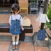 女童牛仔洋裝春裝2021新款小童裝韓版洋氣兒童春秋公主裙子套裝 幸福第一站