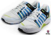 K-SWISS 新竹皇家 SI-18 TRAINER 3 白/藍綠 皮質 休閒鞋 男款 NO.A6767