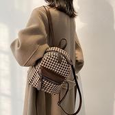 迷你後背包 小包包女夏2021新款潮時尚英倫風書包休閒百搭後背包小眾迷你背包 嬡孕哺