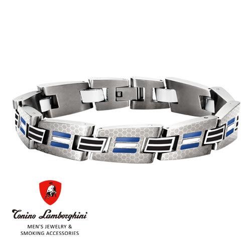 義大利 藍寶堅尼精品 - CORSA Collection 手鍊(藍色) ★ Tonino Lamborghini 原廠進口 時尚必備行頭 ★