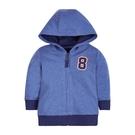 mothercare 秋冬男嬰連帽數字外套-熱血校園-藍色(M0JD967)09M、12M、4A、5A