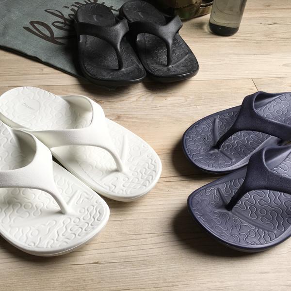 台灣製造-動能-Q軟厚底一體成型人字拖鞋-2雙任選