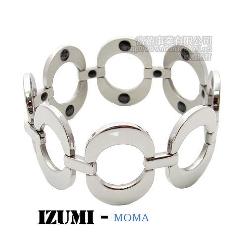 MOMA-【IZUMI】系列白鋼鍺磁手鍊-IS-003