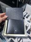 英國代購 英國代購 MONTBLANC 萬寶龍 黑色 牛皮 24卡 短夾 104820