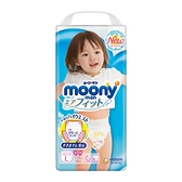 Moony 日本頂級超薄紙尿褲/褲型尿布-女用(L)(44片x4包)箱購-箱購