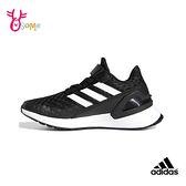 adidas童鞋 大童跑步鞋RAPIDARUN 運動鞋慢跑鞋戶外玩耍輕盈透氣耐磨 男女童 S9322#黑色◆OSOME奧森鞋業