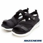 SKECHERS 女涼鞋 時尚休閒系列 FLEX APPEAL 2.0 超柔軟涼鞋 彈性鞋面 拇指外翻 - 黑 39075BLK