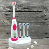 電動牙刷  兒童牙刷電動牙刷旋轉式寶寶小孩牙刷軟毛 卡通 3 6 12歲自動牙刷   蘇荷精品女裝