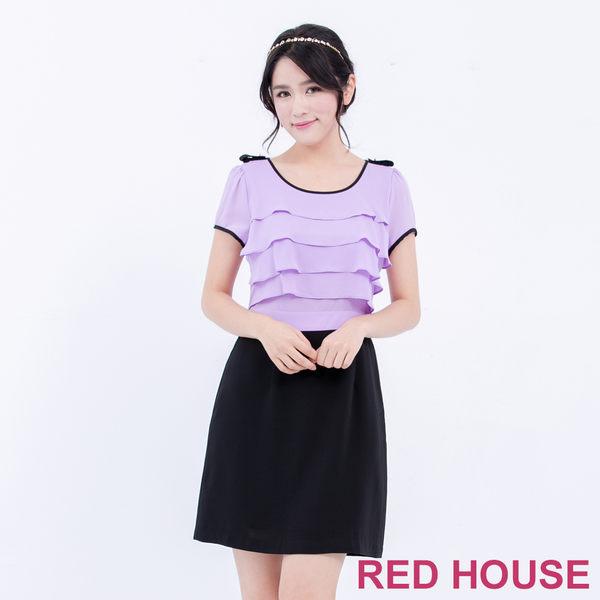 RED HOUSE-蕾赫斯-波浪撞色洋裝(共2色)