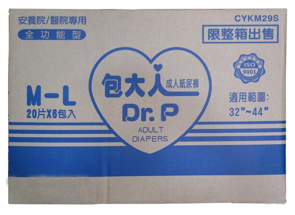 包大人全功能型特販包紙尿褲 ( M-L 20片x6包 /箱)