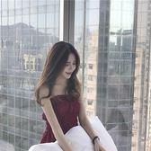 吊帶上衣 復古韓國純色收腰修身顯瘦彈力抹胸時尚百搭短款上衣女裝夏季新款 夢藝家