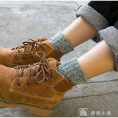 毛襪 堆堆襪襪子女加厚長春秋保暖棉襪加絨秋季純棉毛線羊毛中筒襪冬季 娜娜小鋪