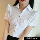 襯衫 V領職業襯衫女襯衣正裝長袖短袖襯衫工裝女韓版白領工作【快速出貨】