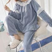 睡袍    珊瑚絨睡衣冬季甜美可愛公主風家居服法蘭絨加厚