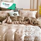 #YN56#奧地利100%TENCEL涼感40支純天絲5尺雙人舖棉床罩兩用被套六件組(限宅配)專櫃等級