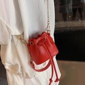 迷你包迷你水桶包小包包女夏季新款潮韓版百搭洋氣包鍊條時尚斜背包新品推薦交換禮物