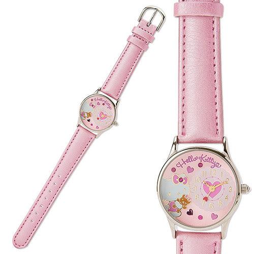 《Sanrio》HELLO KITTY PU皮革錶帶女童手錶DX(小熊)★ 699641