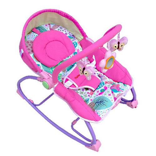 【奇買親子購物網】Mother's Love 嬰兒震動搖椅(綠色/粉色)