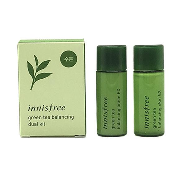 韓國 innisfree 綠茶精萃保濕水乳2件組 8mL ◆86小舖 ◆ 化妝水/乳液