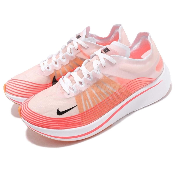 Nike 慢跑鞋 Zoom Fly SP 紅 白 梭織輕量鞋面 賽跑專用 運動鞋 男鞋【PUMP306】 AJ9282-600