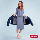 Levis 女款 條紋窄裙 / Line8歐系簡約 / 過膝中長版