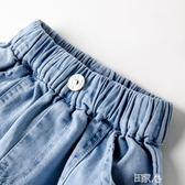 休閒褲兒童牛仔褲夏裝韓版寶寶短褲 E家人