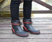 雨靴 新款短筒低筒矮幫輕便舒適防臭防滑帥氣男款釣魚雨鞋雨靴水鞋膠鞋 非凡小鋪