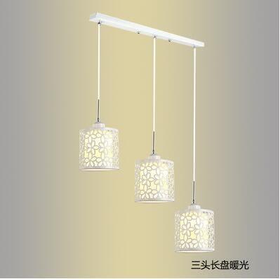 餐廳吊燈三頭創意個性飯廳燈吧台臥室餐廳燈簡約現代過道餐吊燈具  3頭圓盤/長盤