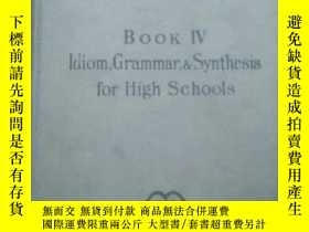 二手書博民逛書店IDIOM罕見GRAMMAR AND SYNTHESIS FOR