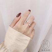 小眾設計裝飾食指戒指女時尚個性冷淡風韓版珍珠指環【貼身日記】