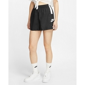 NIKE 短褲 滑面 黑 側大口袋 運動褲 女 (布魯克林) CJ1689-010