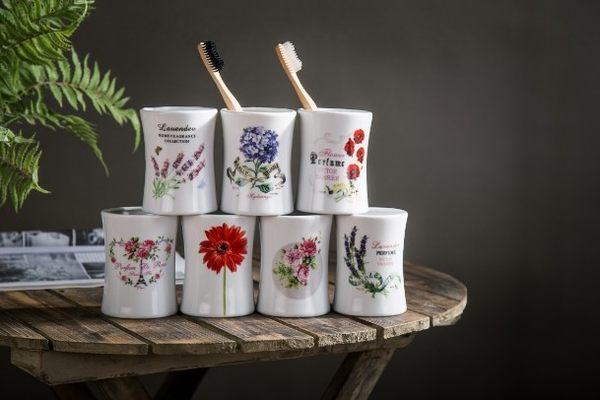 [協貿國際]簡約陶瓷洗漱口杯陶瓷創意情侶杯洗漱杯牙刷杯陶瓷漱口杯