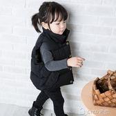 兒童羽絨棉馬甲新款韓版冬季加厚立領男女童寶寶純色外穿背心     ciyo黛雅
